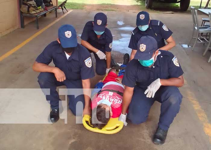 Tercer Ejercicio Multiamenazas en bomberos de Nandaime