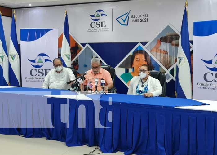 Conferencia de prensa desde el CSE sobre el calendario electoral