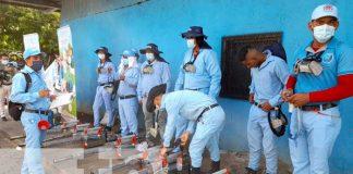 Jornada de fumigación para eliminar zancudos en Managua