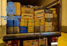 Policía de Granada españa incautan 26 mil kilos de hachís.