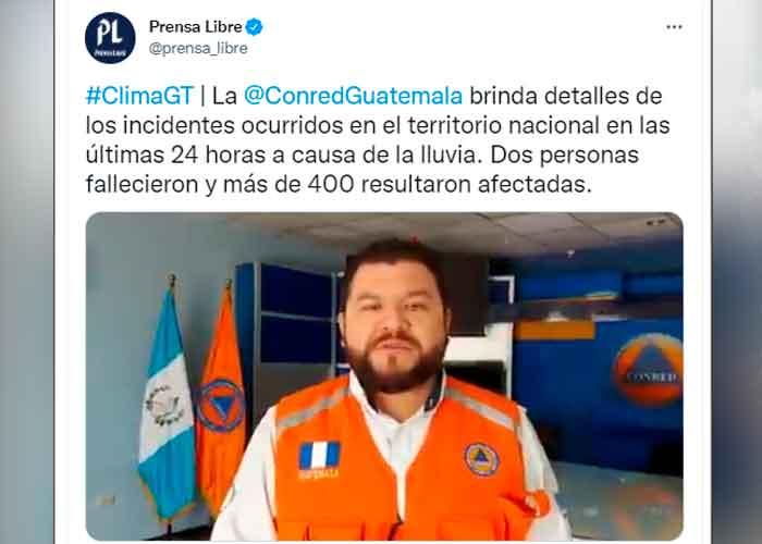 Protección Civil de Guatemala reporta la muerte de dos niñas