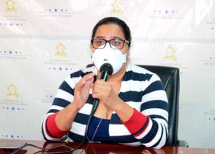 jefa de Vigilancia de la Secretaría de Salud en Honduras, Karla Pavón