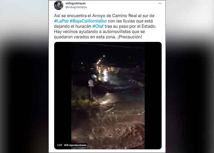 Impactantes imágenes del huracán Olaf tras su paso por baja california sur