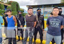 Captura de sujetos por cometer delitos en Jinotega