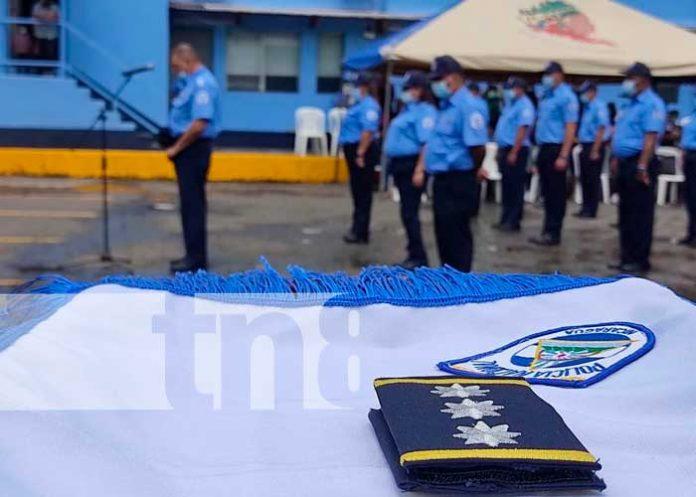 Policía de Jinotega realizó ascenso de grado a oficiales de Jinotega