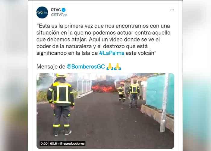 Apocalípticas imágenes del descenso de lava en La Palma, España