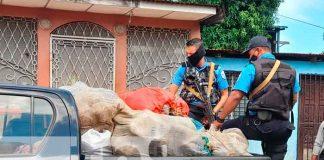 Incautan 10 sacos de presunta marihuana en una casa del Bº 380 de Managua