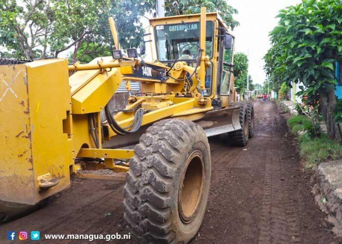 Construcción de calles y obras de drenaje para el progreso de Managua