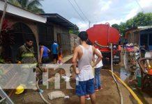 Incendio provoca la destrucción del cuarto de una vivienda en Managua