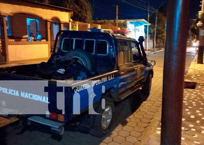 Policía Nacional investiga caso de mujer que se prendió en fuego en Masaya