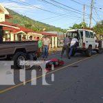 Escena de un fuerte accidente de tránsito en San Ramón, Matagalpa