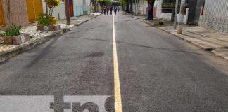 Foto: Obras de mejoramiento vial en Bello Horizonte, Managua / TN8