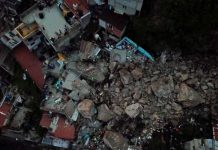 Derrumbe de cerro en México deja al menos dos muertos y 10 desaparecidos.