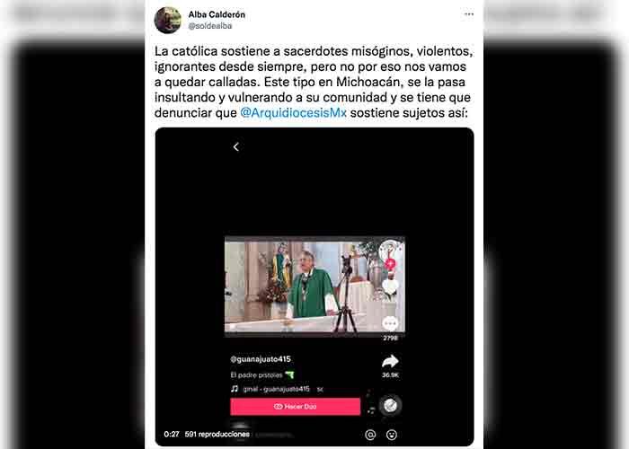 Sacerdote insulta a una mujer con sobrepeso en plena misa (VIDEO)