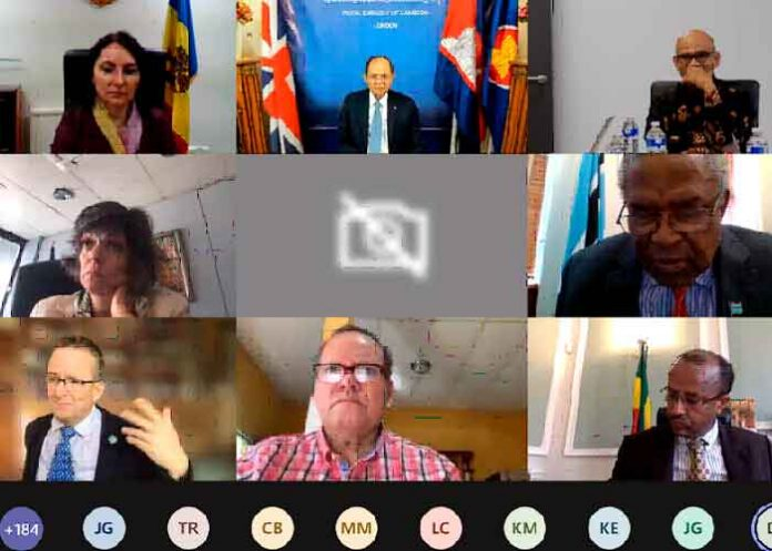 Nicaragua participa en sesión informativa COP-26 con Autoridades Británicas
