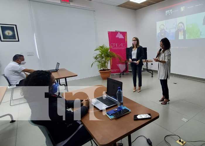 Presentación del taller para el archivo fílmico de Nicaragua