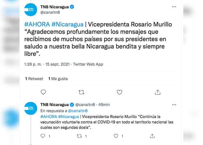"Rosario Murillo: ""Nicaragua Bicentenaria, Centroamérica Bicentenaria"""