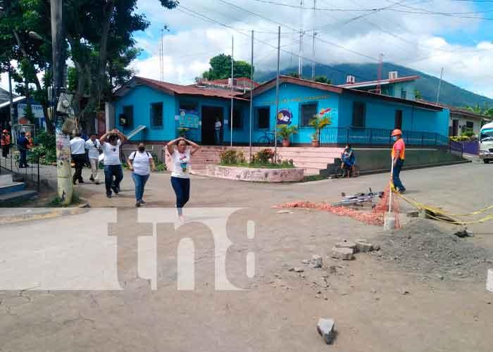Familias de Ometepe participan en el Tercer Ejercicio Multiamenazas