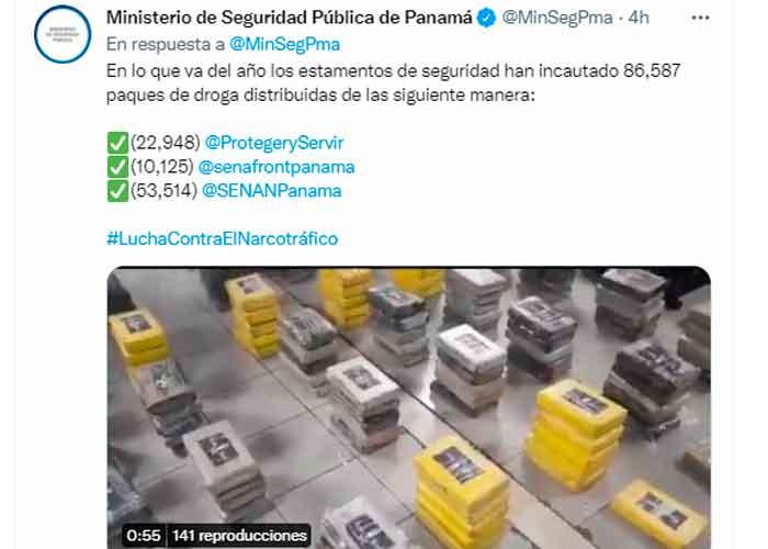 Decomisan en Panamá más de mil paquetes de droga que iban a Francia