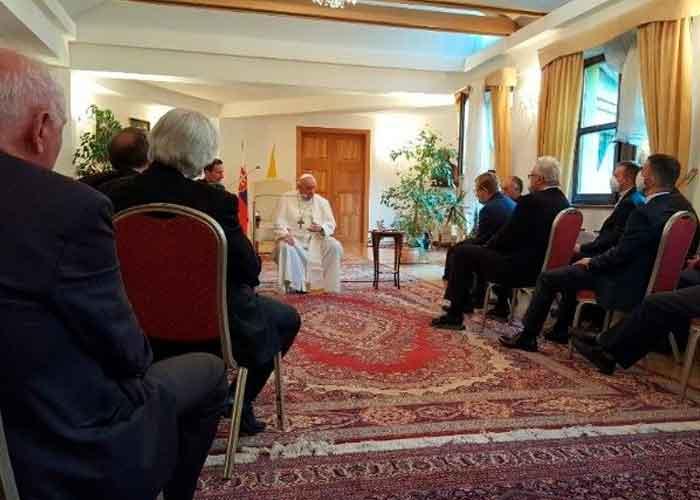 El papa Francisco realizó  reunión con los jesuitas de Eslovaquia