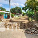 Reparación de calles en el barrio 18 de Mayo, Managua
