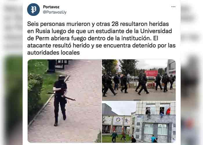 Estudiante mató a ocho personas en un tiroteo en un campus universitario