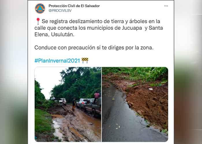 Decreta alerta roja en tres municipios salvadoreños por las fuertes lluvias