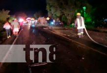 Solo cuantiosos daños materiales dejó un accidente en Matagalpa