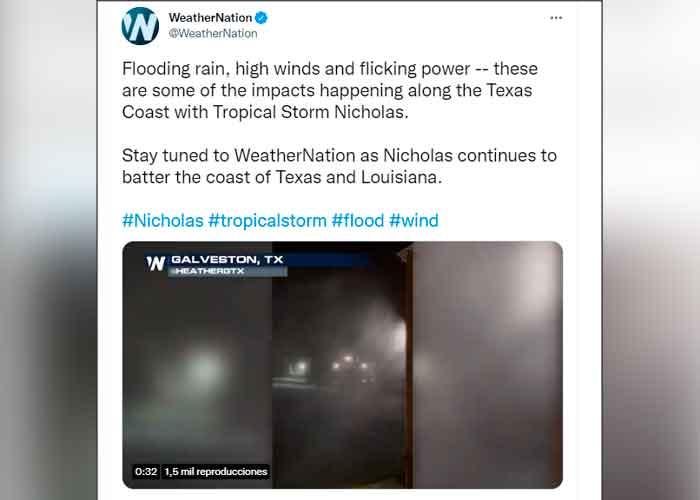 Tormenta Nicholas deja a miles de hogares sin luz en Texas y Luisiana