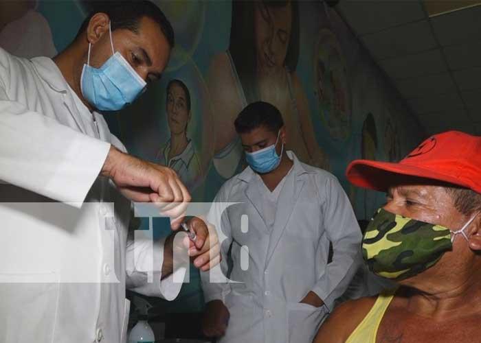 Jornada de aplicación de la vacuna contra el COVID-19 en Estelí