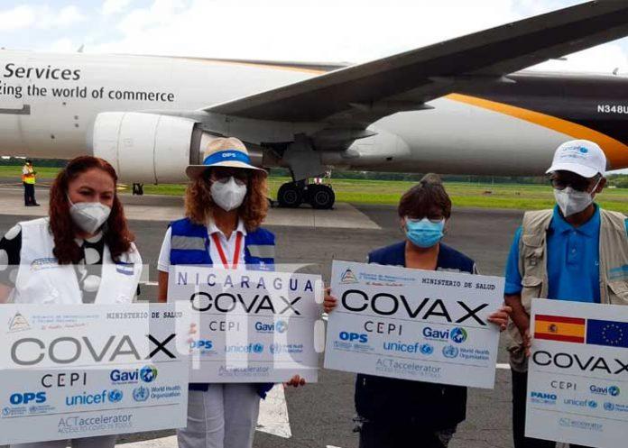 Nicaragua recibe 199 mil 200 nueva dosis de vacunas AstraZeneca