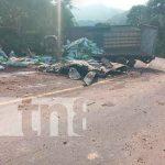 Un fallecido deja un accidente de tránsito en Carretera Waslala Matagalpa