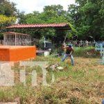 ALMA realiza limpieza y fumigación en cementerios de Tipitapa