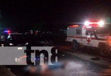accidente de tránsito deja 2 motociclistas muertos en Tipitapa