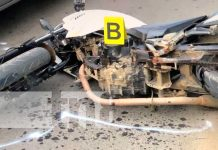 Motociclista sufre accidente de tránsito en Jalapa