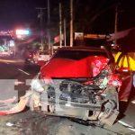 Conductor ebrio provoca dantesco accidente de tránsito en carretera a Masaya