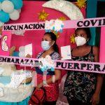 Ometepe: Embarazadas, puérperas y lactantes se inmunizan contra el COVID-19