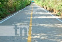 Entregan 400 metros lineales de calles adoquinadas en Nagarote