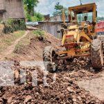 Avanza reparación de las calles de Rio Blanco, Matagalpa