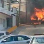 Supuestos sicarios quemaron camión de pasajeros en Acapulco