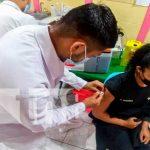 primera dosis de vacuna en Boaco
