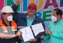 Inicia proyecto de adoquinado en la carretera que unirá a León y Estelí