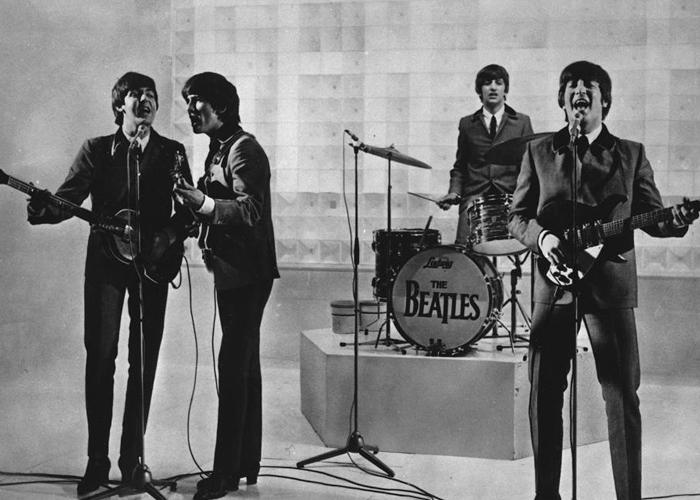 Los Beatles en un concierto