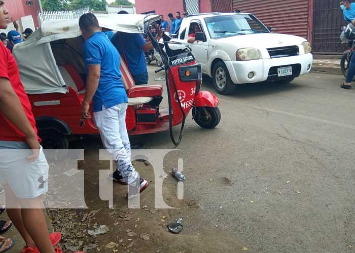 Escena del accidente de tránsito en Las Jagüitas, Managua