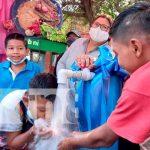 Acto por proyecto de agua potable en Monimbó