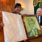 AMLO se reúne con Evo Morales en Palacio Nacional