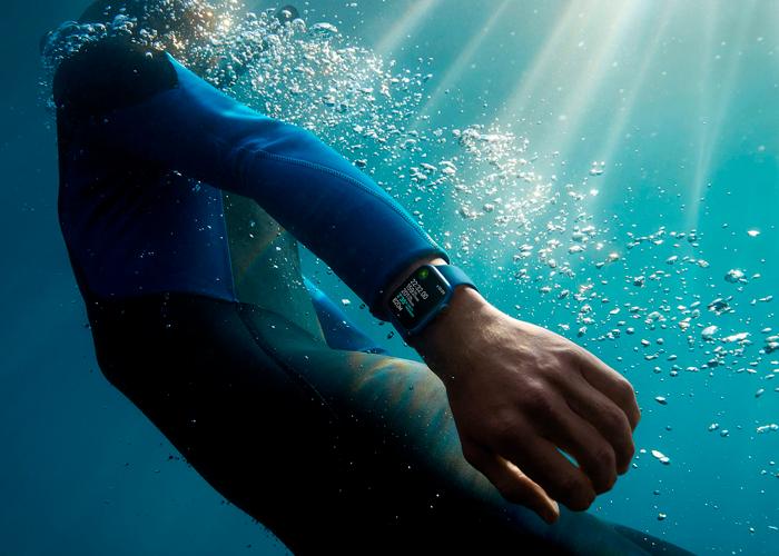 Apple Watch Series 7 resistente bajo el agua y carga rápida