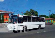 Buses nuevos de Rusia ya están circulando en Managua