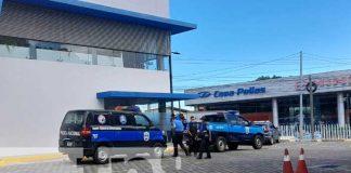 Parqueo de banco en Managua donde una mujer falleció