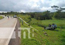 Dos personas que se movilizaban contra la via provocan accidente en Bluefields